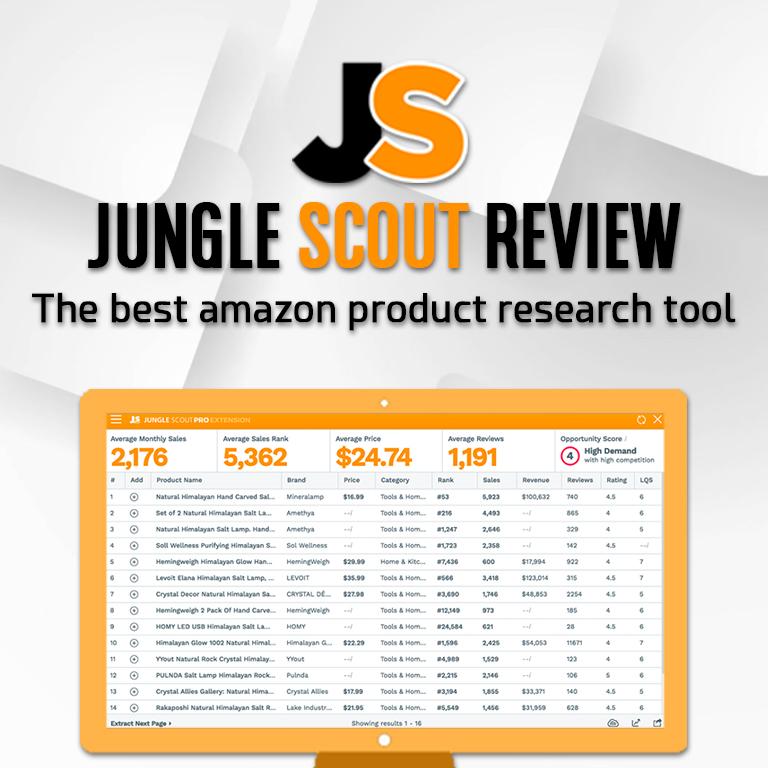 Reseña de Jungle Scout [Encuentra Miles de Productos en Minutos]
